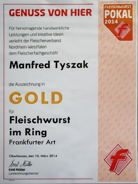 Fleischerei Tyszak Gold